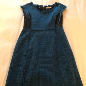 Rebecca Taylor tweed and leather dress